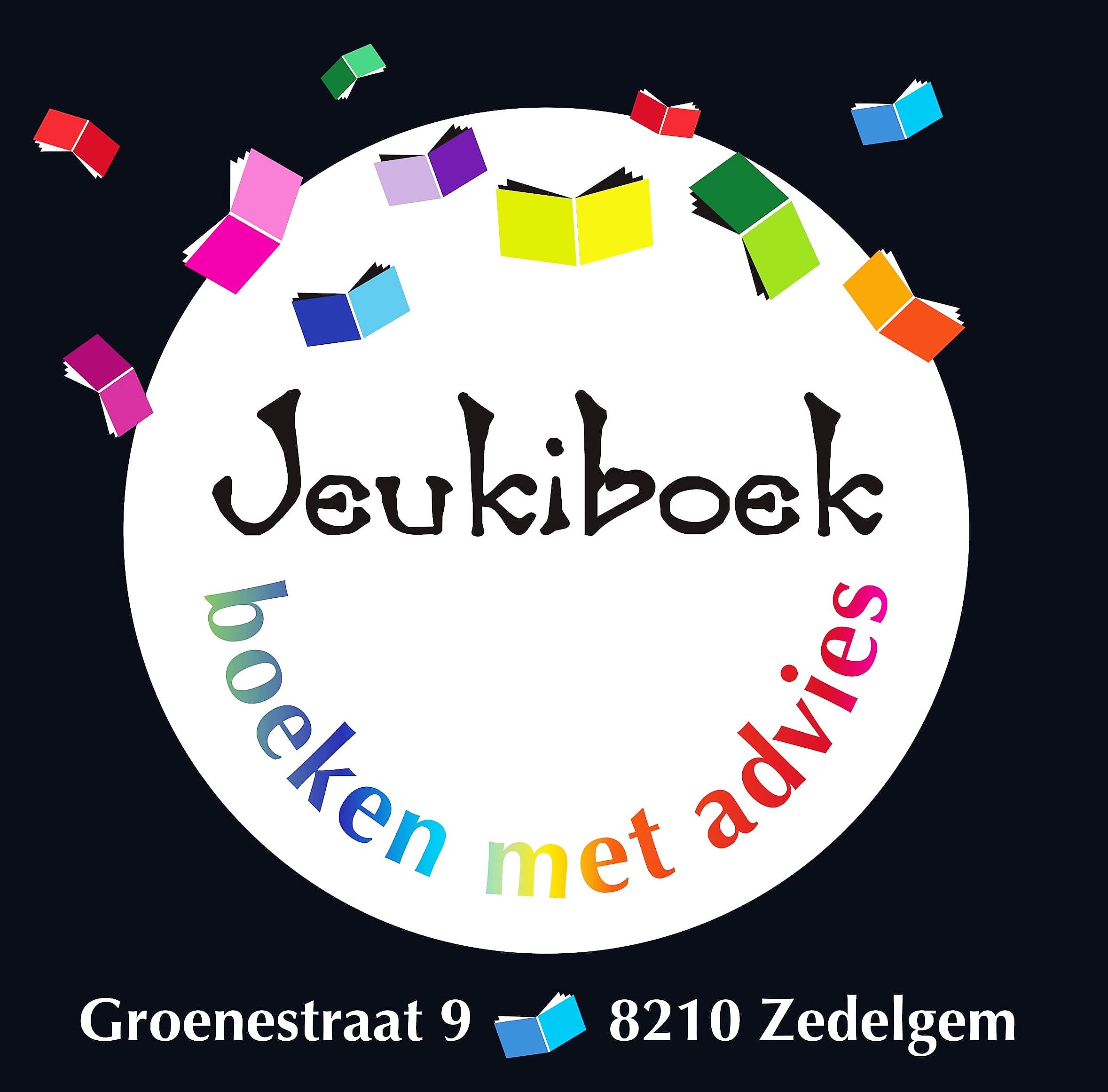 Logo Jeukiboek met adres foto